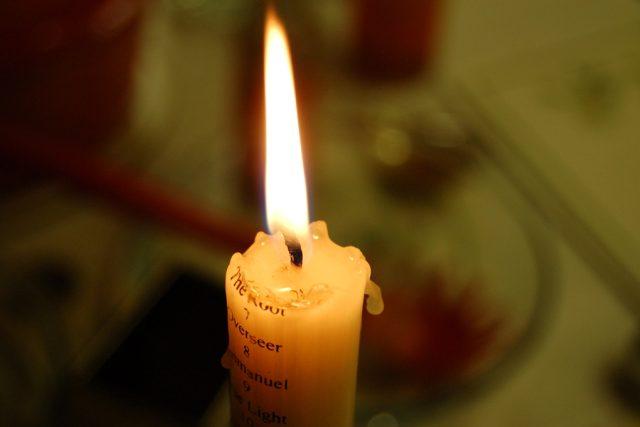 Hořící svíce