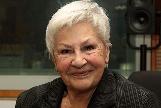 Kamila Moučková,  legendární hlasatelka   foto: Jan Sklenář