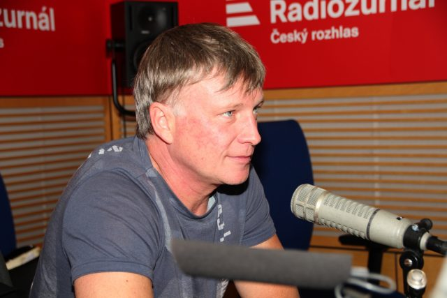 Herec Michal Dlouhý v Hostu Radiožurnálu