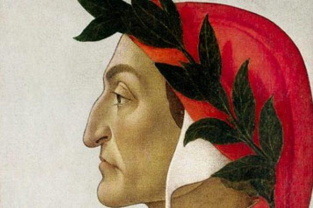 Dante Alighieri, portrét od Sandra Botticelliho (1495)
