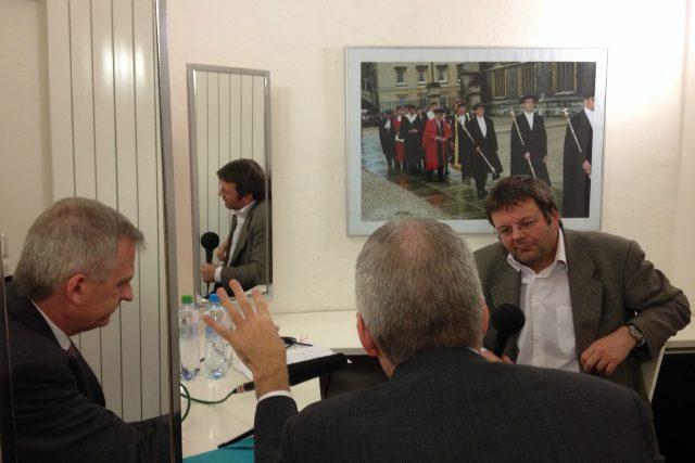 Petr Dudek a historik Timothy Snyder | foto: Roman Kolliner