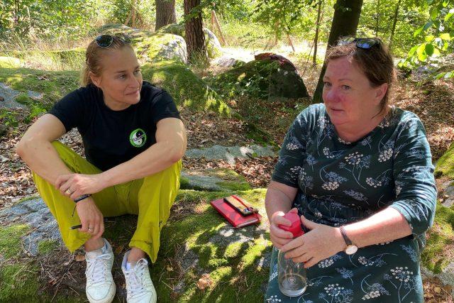 Lucie Výborná během rozhovoru s Janou Frankovou,  uměleckou vedoucí DRDS | foto: Tomáš Černý,  Český rozhlas