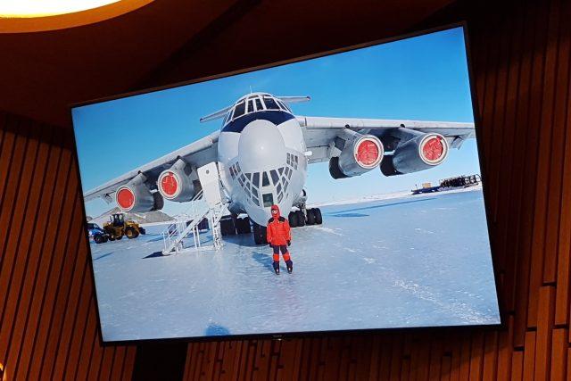 Lucie Výborná na Antarktidě | foto: repro ,  Miloslav Hamřík