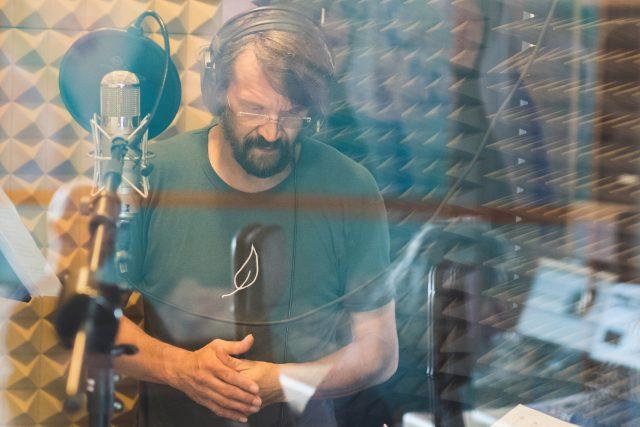 Dan Bárta při natáčení alba Concept Art Orchestra – Vánoce dospělých, SONO Records, září 2018