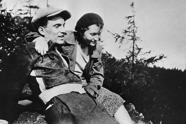 Julius Fučík s manželkou Gustou,  1932 | foto: ČTK