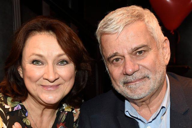 Zlata Adamovská a Petr Štěpánek v roce 2018   foto: Profimedia