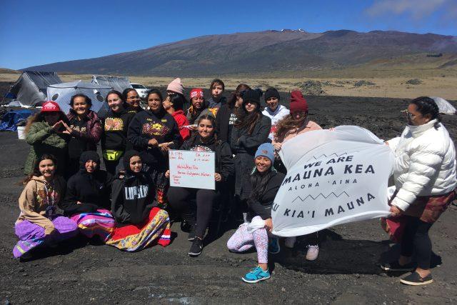 Mauna Kea - protestující | foto: Martina Pouchlá,  Český rozhlas