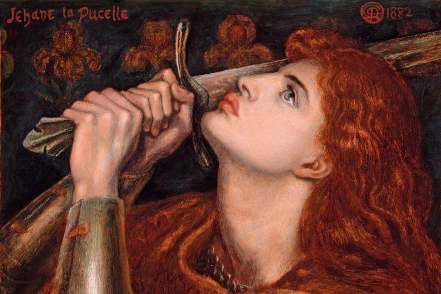 Dante Gabriel Rossetti: Jana z Arku  (1882) | foto:  Dante Gabriel Rossetti,  Wikimedia Commons,  Fitzwilliamovo muzeum,  CC0 1.0