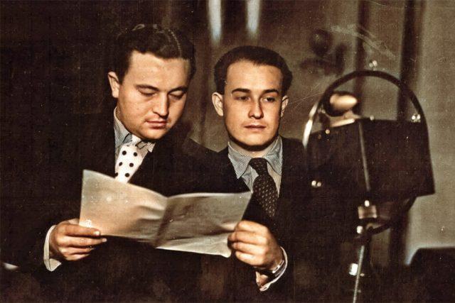 Jan Werich a Jiří Voskovec   foto: Archivní a programové fondy Českého rozhlasu