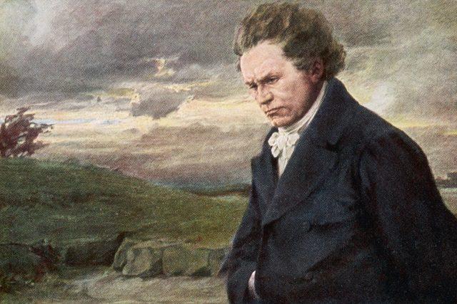 Ludwig van Beethoven při procházce za větrného dne