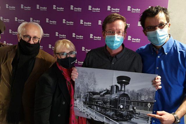 Václav Knop,  Kateřina Macháčková,  Aleš Cibulka,  Tomáš Voženílek | foto: Kateřina Coufalová,  Český rozhlas