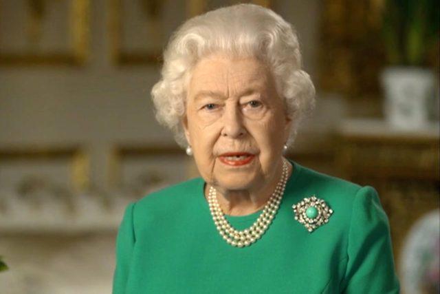 Alžběta II.; The UK's Queen Elizabeth addresses the nation over the coronavirus crisis   foto: Fotobanka Profimedia